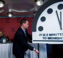 Solo en 1953 el 'Doomsday Clock' marcó una hora tan cercana como la de 2018 para el fin del mundo.