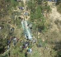 HUEHUETENANGO, Guatemala.- Además de los fallecidos, existen 21 personas heridas que fueron trasladadas a distintas casa de salud. Foto: @noticias24