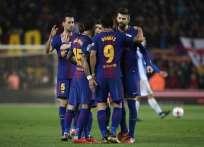 El equipo catalán venció 2-0 al Espanyol en el estadio Camp Nou. Foto: AFP