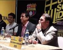 El presidente de Barcelona aseguró que juntos llegarán muy lejos. Foto: Tomada de la cuenta Twitter @BarcelonaSCweb