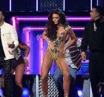 NUEVO YORK, EE.UU.- Los puertorriqueños realizaron una coreografía espectacular en el Madison Square Garden. Foto: AFP.