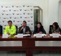QUITO, Ecuador.- Autoridades dieron rueda de prensa para informar sobre la captura de Egry Xavier M.B. Foto: Twitter Ministerio del Interior.
