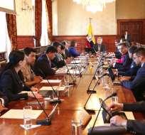 Está previsto que el ministro César Navas emita declaraciones tras la reunión. Foto: Presidencia