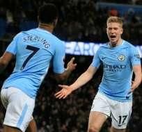Los 'citizens' superaron 3-0 al West Bromwich Albion. Foto: AFP