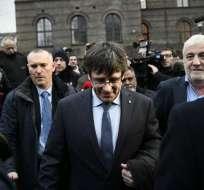 Puigdemont era el único candidato en la sesión de investidura. Foto: AFP