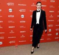 """LONDRES, Reino Unido.- Keira Knightley, miembro del elenco de """"Colette"""", llega al estreno del filme en el Festival de Cine de Sundance. Foto: AP."""