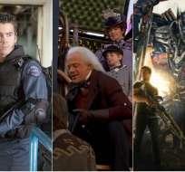 S.W.A.T., Volver al futuro III y Transformers: la era de la extinción, entre los filmes de los fines de semana. Foto: Collage