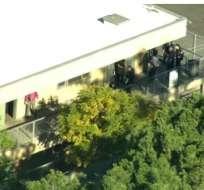 Tiroteo en Los Ángeles: estudiante le disparó a dos compañeros. Foto: Redes