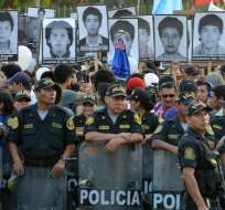 """Familiares de víctimas denunciaron el indulto como un """"pacto político"""". Foto: Archivo AFP"""