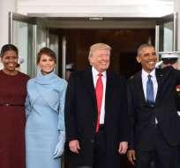 El gesto de la primera dama causó revuelo durante la posesión de Trump. Foto: AP.