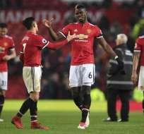 Alexi Sánchez anotó uno de los goles del United. Foto: AFP