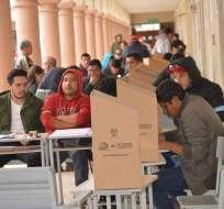 Escrutinio oficial de los votos llegaría al 80% a las 20H00, dijo presidenta del CNE. Foto: API