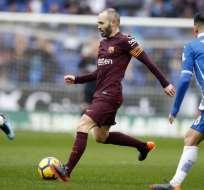 Barcelona empató en campo del Espanyol a ocho minutos del final del encuentro.