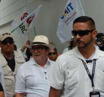 El candidato a la presidencia de Colombia, Rodrigo Londoño, fue recibido con insultos en su ciudad natal.