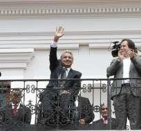 QUITO, Ecuador.- El presidente Lenín Moreno durante el cambio de guardia de los lunes en el palacio de Carondelet.. Foto: Flickr Presidencia.