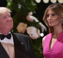 Melania Trump se niega a tomarse una foto conjunta con su esposo. Foto: Referencial