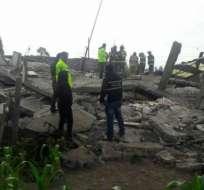 LATACUNGA, Ecuador.- Dos personas fallecieron y tres resultaron heridas tras el colapso de la vivienda. Foto: twitter Ecu911