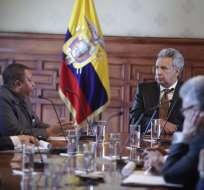 Presidente se reunió el martes en Carondelet con secretario general de la OPEP. Foto: Presidencia