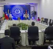 La reunión comenzó en la sede de la Cancillería en República Dominicana. Foto: AFP