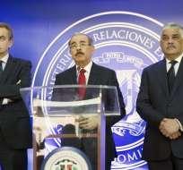 El anuncio lo hizo el miércoles el presidente dominicano Danilo Medina. Foto: AFP