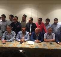 Todos los directivos del torneo nacional se pusieron de acuerdo en la decisión. Foto: Tomada de la cuenta Twitter @SanchezJoselo