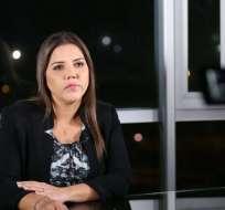 Vicepresidenta Vicuña responde a críticas de la CIDH a la pregunta 3 de la consulta popular. Foto: Twitter Vicepresidencia Ecuador