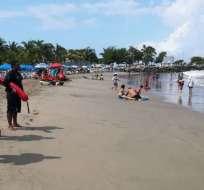 Autoridades piden precaución a los turistas al momento de entrar al mar. Foto: Referencial