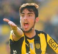 El uruguayo Gastón Rodríguez, quién milita en Peñarol, es el futbolista apuntado. Foto: Tomada de http://www.elbocon.com.uy/