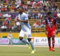 Los 'millonarios' vencieron 2-1 a los 'puros criollos' con doblete de Bryan Angulo. Foto: API