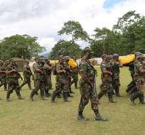 Se detuvo a una persona para las investigaciones correspondientes, indico FF.AA. Foto referencial / Flickr Ministerio de Defensa