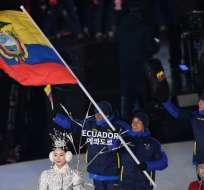 El deportista fue el primer ecuatoriano en unos Juegos Olímpicos de Invierno. Foto: AFP