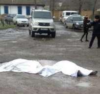KILZLYAR, Rusia.- El atacante fue abatido por efectivos de la policía. Foto: tomada de twitter
