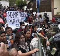Manifestaciones reflejan el nivel de polarización política que vive el país. Foto: AFP