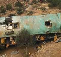 Es el segundo accidente con decenas de víctimas ocurrido en 2018 en carreteras de Perú. Foto: AFP
