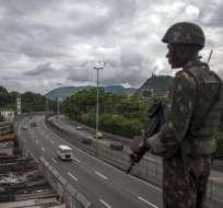 RIO DE JANEIRO, Brasil.- El congreso de ese país aprobó la intervención militar en el estado de Rio de Janeiro. Foto: AFP