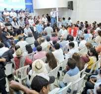 Primera cita de militantes de la 'Revolución Alfarista' se efectuó en Durán. Foto: Vistazo.com.