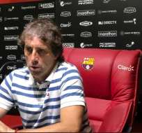 El entrenador de Barcelona también dijo que ya tenía el reemplazante de Béder Caicedo. Foto: Tomada de @BarcelonaSCweb