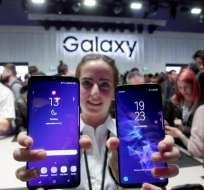 Samsung lanza el Galaxy S9 en arranque del Mobile World Congress. Foto: AFP