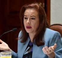 La canciller María Fernanda Espinosa participa en la reunión anual del Consejo de Derechos Humanos de la ONU. Foto: AFP