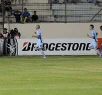 MANTA, Ecuador.- Delfín Vs. Bolívar. Copa Libertadores 2018. Estadio Jocay.  Foto: API.