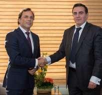Nuevo embajador de Argentina en Ecuador presenta cartas credenciales. Foto: Cancillería Ecuador