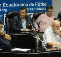 El anuncio lo hizo el directorio en una rueda de prensa realizada en Guayaquil. Foto: API