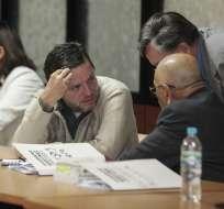 Durante audiencia de juicio, Mosquera reiteró que realizó los movimientos financieros. Foto: API