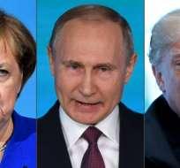 Ángela Merkel y Donald Trump compartieron su preocupación ante el anuncio de Putin. Foto: AFP