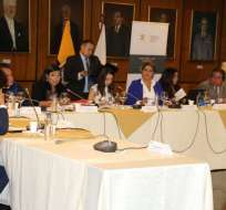 QUITO, Ecuador.- Informe de sustanciación del proceso se analizó con la presencia de 8 miembros de la comisión. Foto: TW.