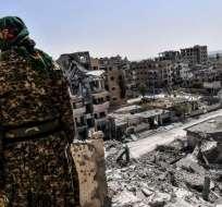 """""""La naturaleza de nuestra misión en Siria no cambió"""", según Departamento de Defensa. Foto: Archivo AFP"""