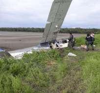 GUAYAQUIL, Ecuador.- La aeronave era rastreada por la FAE minutos antes del accidente. Foto: ministerio del Interior