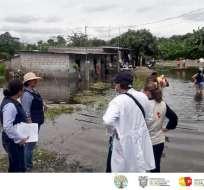 QUEVEDO, Ecuador.- Este cantón junto a Urdaneta, Babahoyo y Montalvo son los más afectados por el temporal. Foto: MSP Zonal 5