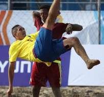 Ecuador derrotó a Venezuela por la tercera jornada de la Copa América de fútbol playa.