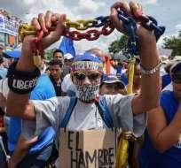 MUD acordó en febrero no participar en las elecciones presidenciales. Foto: Archivo AFP